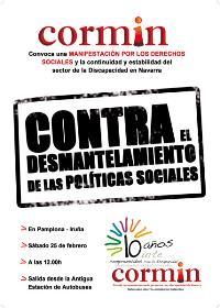 Cartel de la manifestación del CORMIN