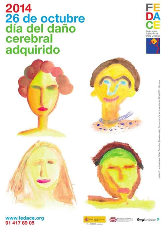 Cartel del Día del Daño Cerebral Adquirido 2014