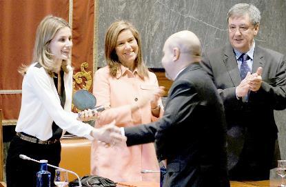 La Princesa Letizia entrega el galardón a Luis Cayo Pérez Bueno, presidente del CERMI