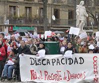 Manifestación de personas con discapacidad