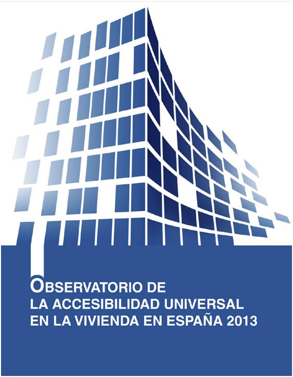 Portada del Observatorio de la Accesibilidad Universal en la Vivienda en España 2013
