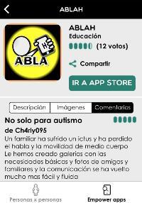 Imagen de la aplicación ABLAH, de EMPOWERYOU