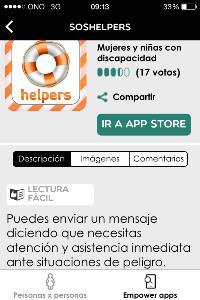 Imagen de la aplicación Soshelpers, de EMPOWERYOU
