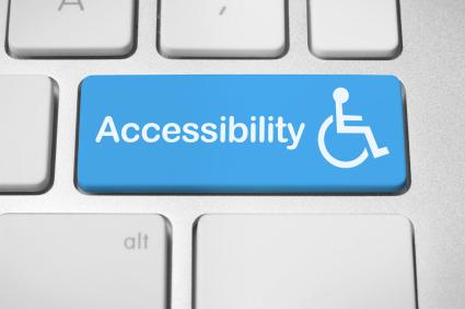 Imagen símbolo de accesibilidad web, de la web disenosocial.org