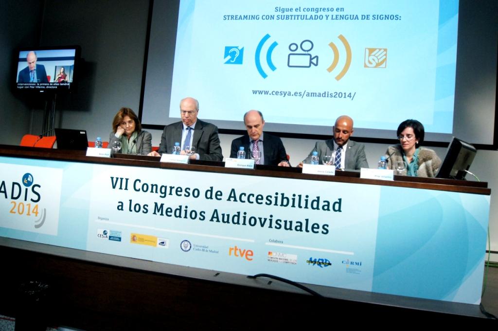 Acto de clausura del VII Congreso Amadis 2014