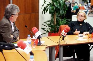 Roser Romero, secretaria de organización de Cocemfe y Ángel Calle, jefe de Valoración del Imserso