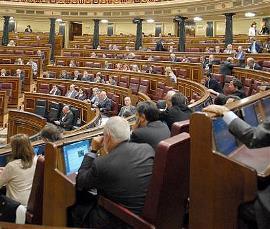 Instantánea del pleno del Congreso de los Diputados