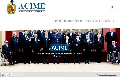 Detalle de la página web de ACIME