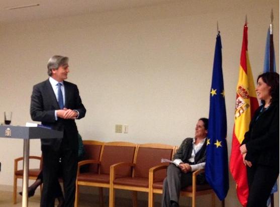 Ana Peláez, comisionada de Género del CERMI, en la Misión de España ante Naciones Unidas