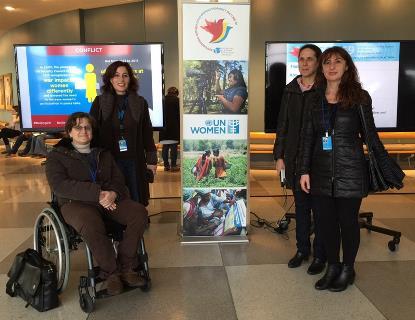 Mujeres de CERMI y Fundación CERMI Mujeres en Nueva York
