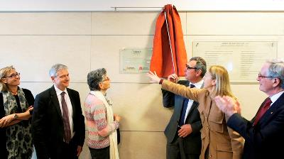 Momento de la inauguración del CIM