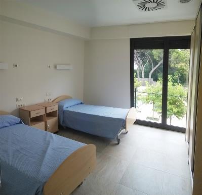 Una de las habitaciones de la residencia del CIM