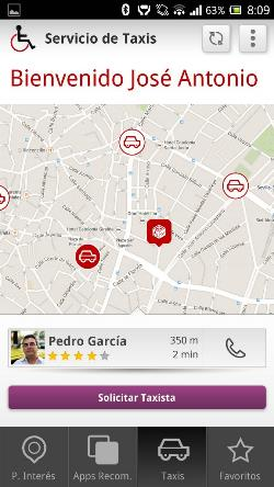 Detalle de la pantalla de un móvil con un usuario logado a la app