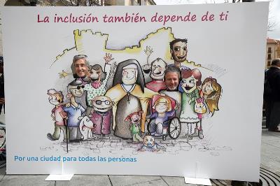 Fotocall utilizado en la clausura de la campaña de sensibilización por la inclusión y la accesibilidad