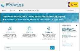 Imagen de la web de transparencia del Gobierno de España