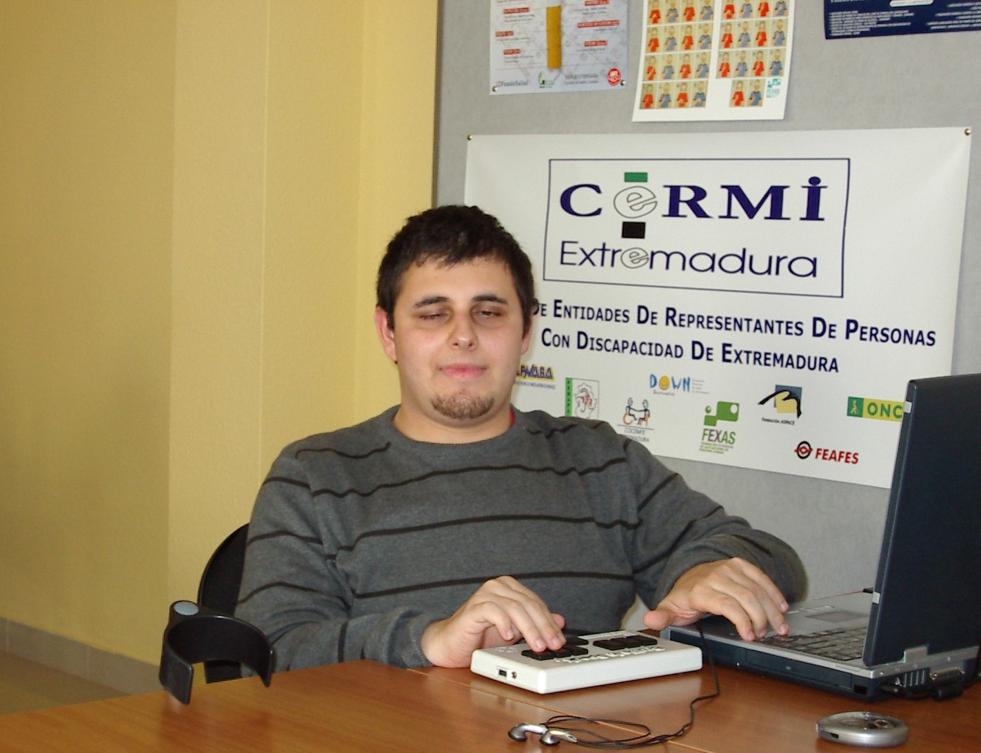 Alfonso Cortés, presidente de Cocemfe Cáceres y gerente de CERMI Extremadura