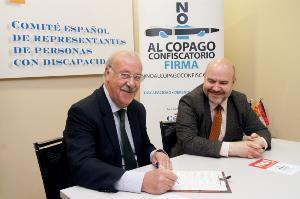 Vicente del Bosque se suma a la campaña del CERMI contra el copago confiscatorio