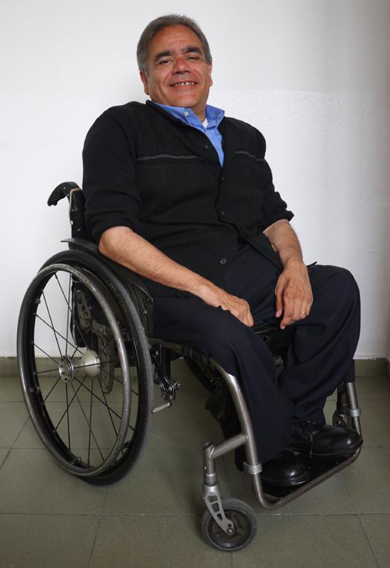 Antonio Guillén, presidente del Cocarmi (Comité Catalán de Representantes de Personas con Discapacidad)