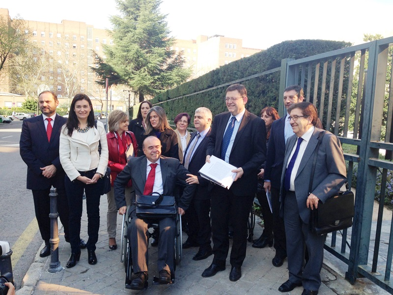 Imagen del día que el PSOE presentó el recurso contra el copago en Valencia