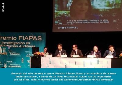Acto de entrega de los Premios Fiapas de Investigación en Deficiencia Auditiva 2014
