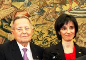 Alberto Arbide, primer presidente del CERMI junto a Pilar Villarino, directora ejecutiva del CERMI