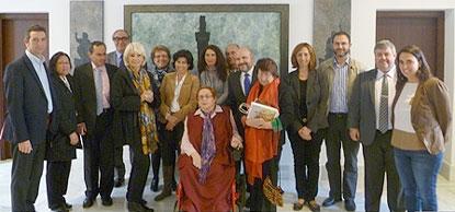 Reunión del CERMI con Teófila Martínez