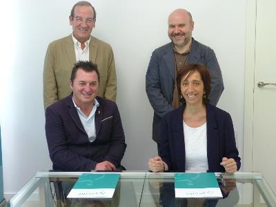 Firma del convenio entre Predif y CNSE