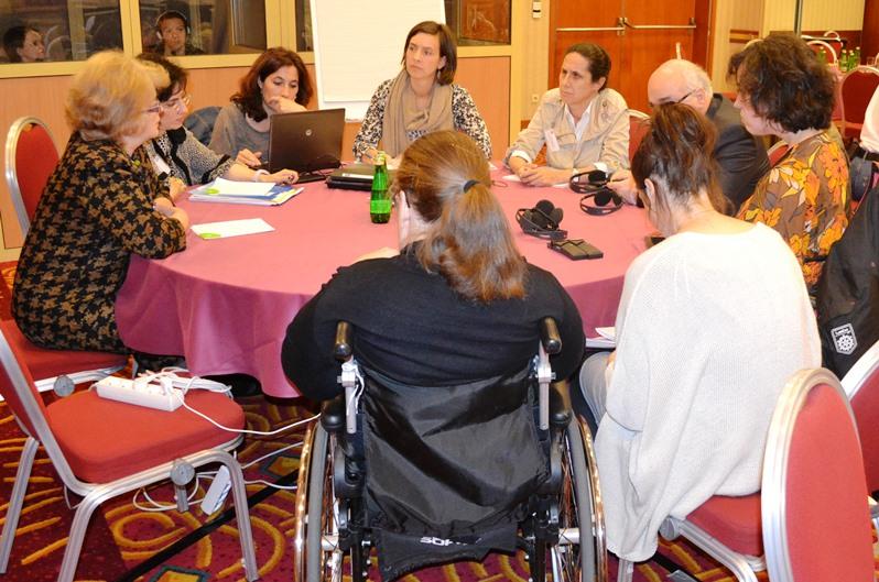 Representantes del CERMI en la Asamblea anual del EDF