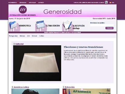 La Fundación CERMI Mujeres lanza el tercer número de su boletín 'Generosidad'