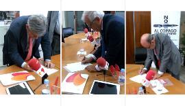 Los tres expresidentes españoles de la Eurocámara se suman a la ILP contra el copago en dependencia