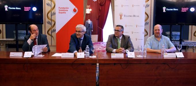 Imagen del Teatro Real el día de la presentación de la app Teatro Real Accesible