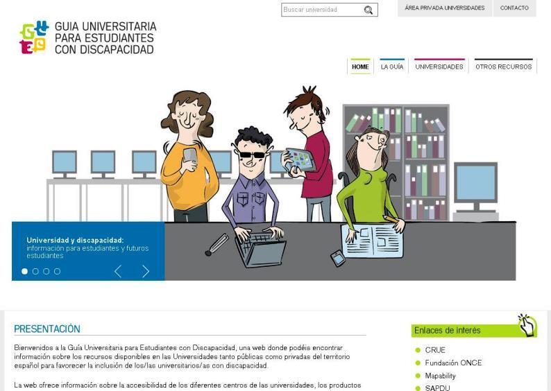 Una de las imágenes de la 'Guía universitaria para estudiantes con discapacidad'