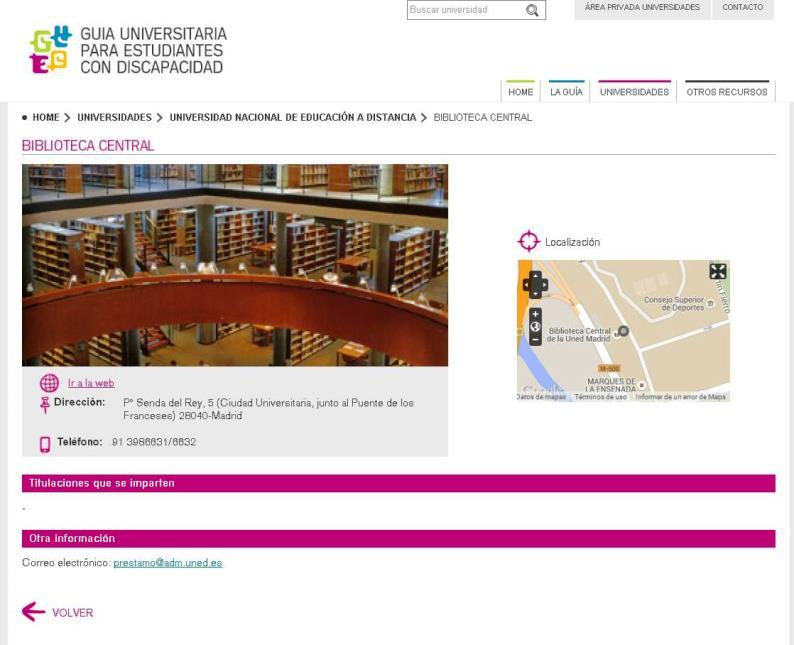 Detalle de la 'Guía universitaria para estudiantes con discapacidad' (foto cedida por la UNED)