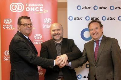 CERMI, Fudnación ONCE y Atuc impulsarán la eficacia y la eficiencia en el ámbito del transporte colectivo accesible