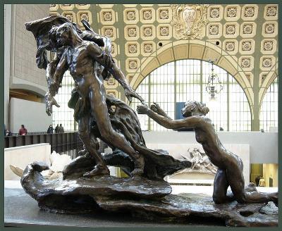 'La edad madura' escultura de Camille Claudel