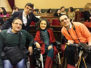 Javier Eneraldo Campos, concejal en Ciudad Real, con compañeros