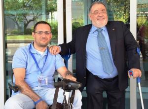 Javier Eneraldo Campos, concejal en Ciudad Real, con Mario García, presidente de Cocemfe