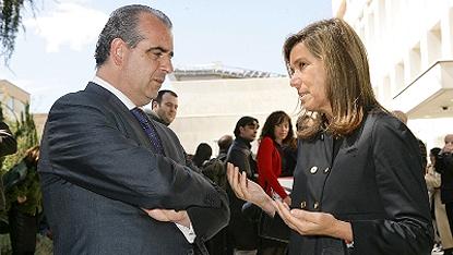 Ana Mato (dcha) y Luciano Poyato, durante el acto de presentación de la Plataforma del Tercer Sector