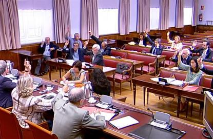Imagen de la Comisión de Economía del Senado durante la votación del Proyecto de Ley de reforma del Sistema para la valoración de los daños y perjuicios causados a las personas en accidentes de circul