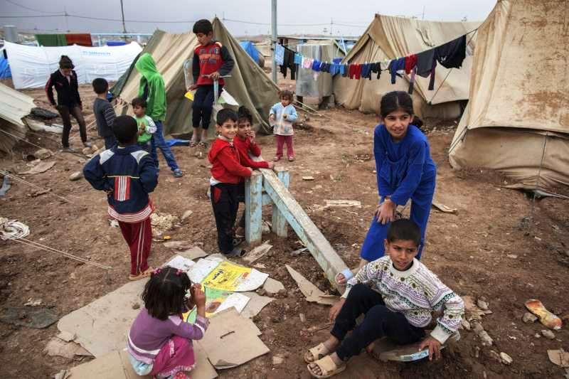Niños sirios refugiados. Imagen del Centro de noticias ONU