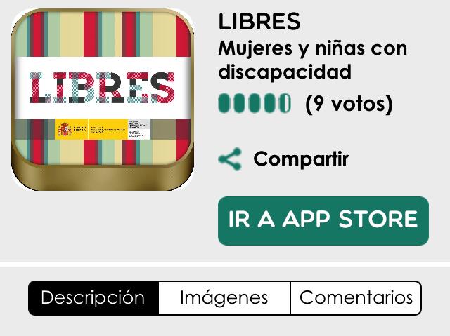 Imagen de la aplicación Libres