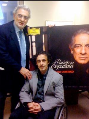Juanjo Colomer, compositor, junto a Plácido Domingo