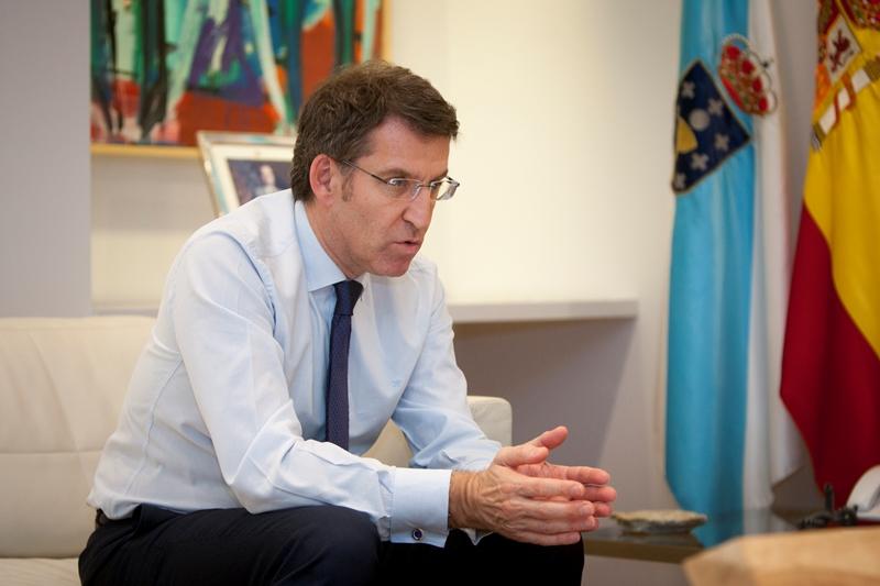 Alberto Núñez Feijoo, presidente de la Xunta de Galicia