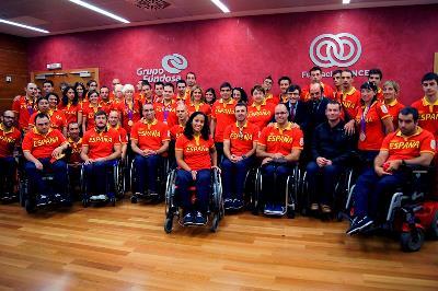 Selección Española Paralímpico en la sede de Fundación ONCE