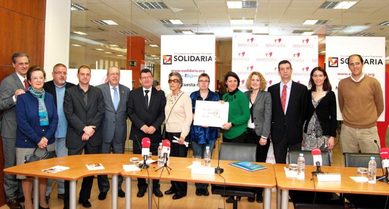 Presentación del Cupón de la ONCE dedicado a la X Solidaria