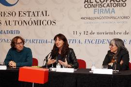 Isabel Caballero, Guillén Febré Ifón y Luz Sanz Escudero en el XI Congreso Estatal de CERMIS Autonómicos