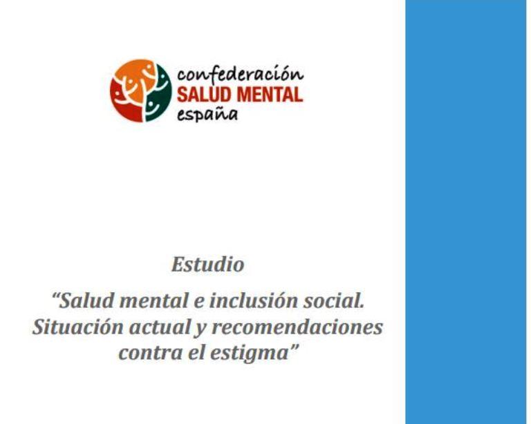 Detalle de la portada de la investigación 'Salud mental e inclusión social. Situación actual y recomendaciones contra el estigma'