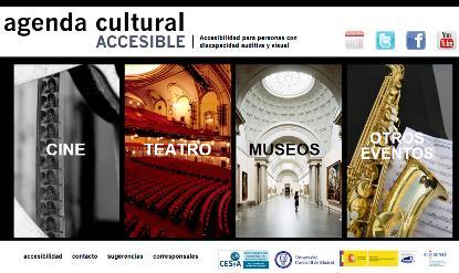 Imagen de la web 'Cultura accesible'