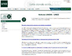 Imagen de la web de la UNED