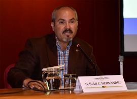 Juan Carlos Hernández Sosa, en una Mesa Redonda Gran Canaria Accesible (Gran Canaria Maratón)